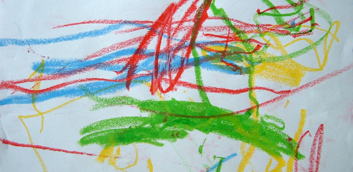 Photo credit: Wikimedia Commons, user Zeimusu. URL: http://commons.wikimedia.org/wiki/File:Child_scribble_age_1y10m.jpg